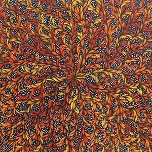 (CreativeWork) Bush Medicine Leaves Dreaming  - Traditional Colours by Louise Numina. acrylic-painting. Shop online at Bluethumb.