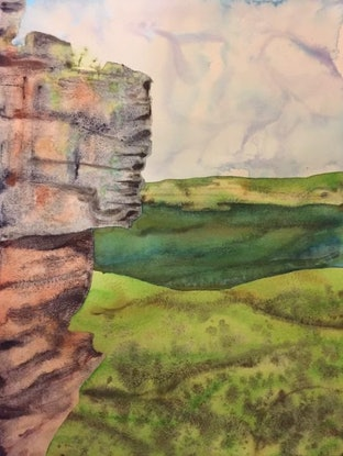 (CreativeWork) One of  the Sisters by Gavin Bridge. Watercolour Paint. Shop online at Bluethumb.
