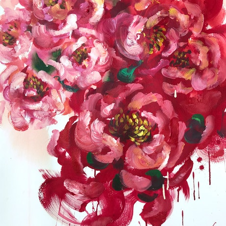 (CreativeWork) RED ADDICTION by Lily Nova. Acrylic Paint. Shop online at Bluethumb.