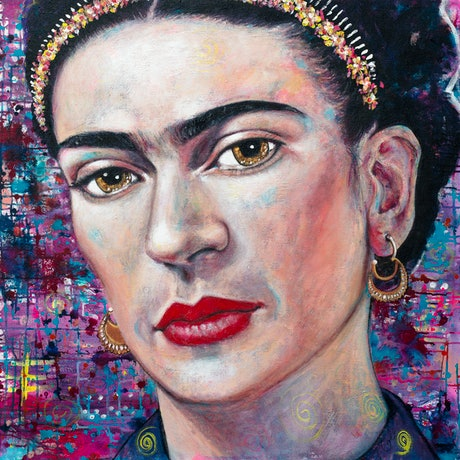 (CreativeWork) Facing Frida Limited Edition Large Giclee Fine Art Print       by Tanya Cole. Print. Shop online at Bluethumb.