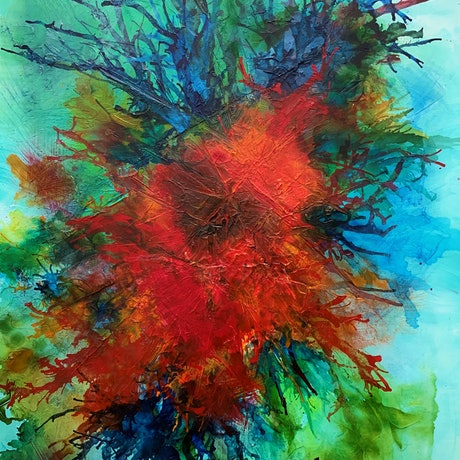 (CreativeWork) Eternal Bloom by Tharie .. Acrylic Paint. Shop online at Bluethumb.