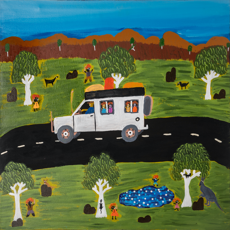 (CreativeWork) Day Out (19-TA106) by Heather Anderson. oil-painting. Shop online at Bluethumb.