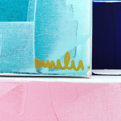 (CreativeWork) Truly Madly Deeply by Maggi McDonald. Acrylic Paint. Shop online at Bluethumb.