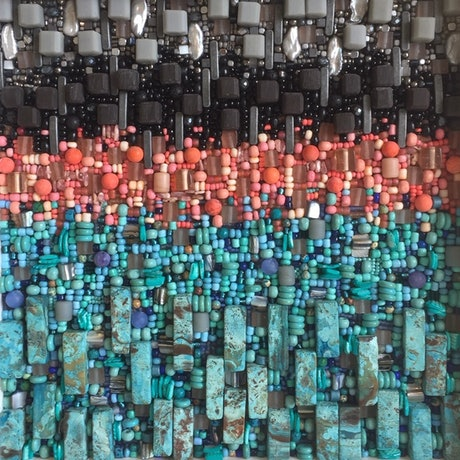 (CreativeWork) The City - abstract mosaic by Dana Abukasis. Other Media. Shop online at Bluethumb.