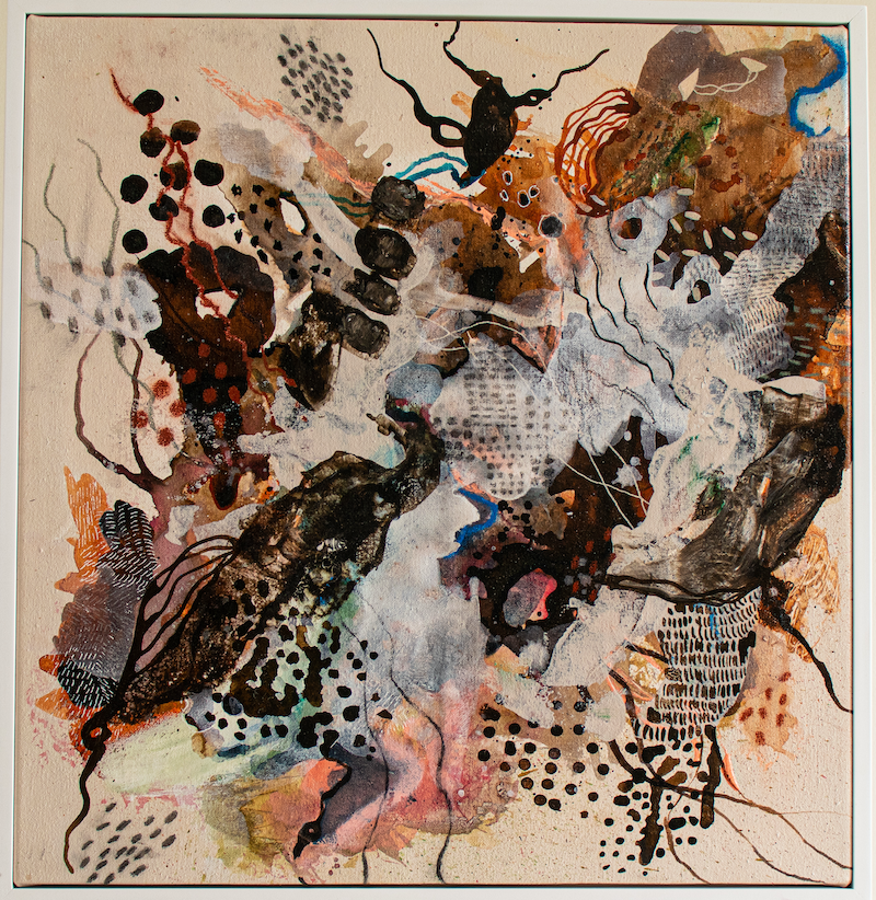 (CreativeWork) The Pathways That Connect Us by Doulene Walker. Mixed Media. Shop online at Bluethumb.
