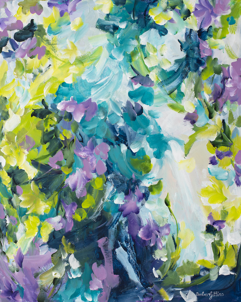 (CreativeWork) Treasure the Moments by Amber Gittins. Acrylic Paint. Shop online at Bluethumb.