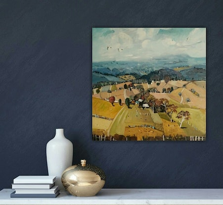(CreativeWork) Australian landscape  - Fields of Yellow by Susan Trudinger. #<Filter:0x00005566537a2b78>. Shop online at Bluethumb.
