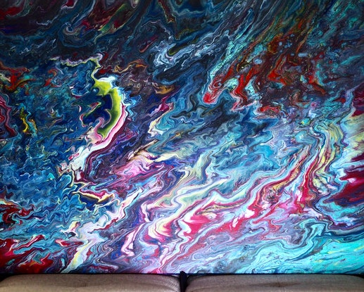 (CreativeWork) Underneath by Joshua Lacy. Acrylic Paint. Shop online at Bluethumb.