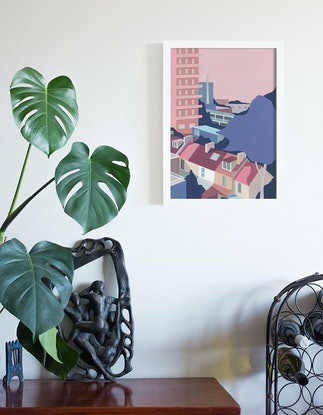 (CreativeWork) Camperdown by Bianca Wilson. Acrylic Paint. Shop online at Bluethumb.