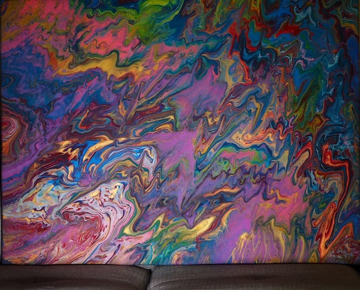 (CreativeWork) A thousand kisses. by Joshua Lacy. Acrylic. Shop online at Bluethumb.