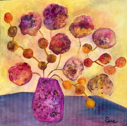 (CreativeWork) Bunches 7 by sue carter. Mixed Media. Shop online at Bluethumb.