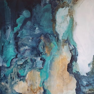 (CreativeWork) Shallow Depth by Emily Snow. acrylic-painting. Shop online at Bluethumb.