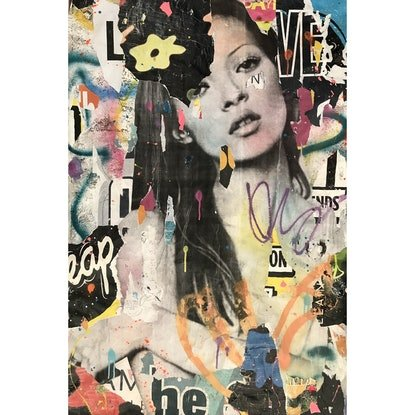 (CreativeWork) Street Icon 135 (Kate) by Cold Ghost. Mixed Media. Shop online at Bluethumb.