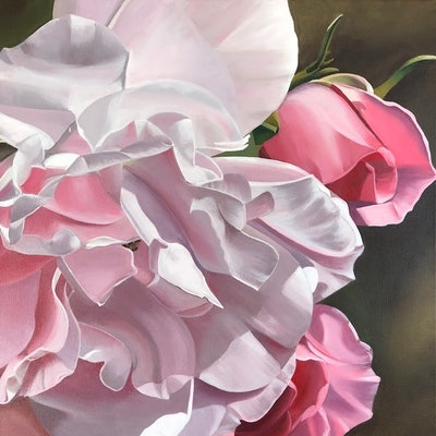 (CreativeWork) Forever Roses by Patricia Hillard. acrylic-painting. Shop online at Bluethumb.
