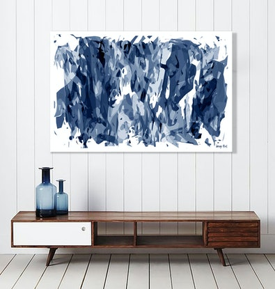 (CreativeWork) 'The Canines' 137cm x 91cm archival solvent print on Canvas, Ready to hang.  Ed. 3 of 5 by George Hall. Print. Shop online at Bluethumb.