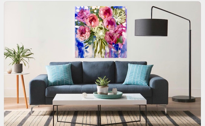 (CreativeWork) Summer delight  by Amanda Brooks. #<Filter:0x00007f5a0935d698>. Shop online at Bluethumb.