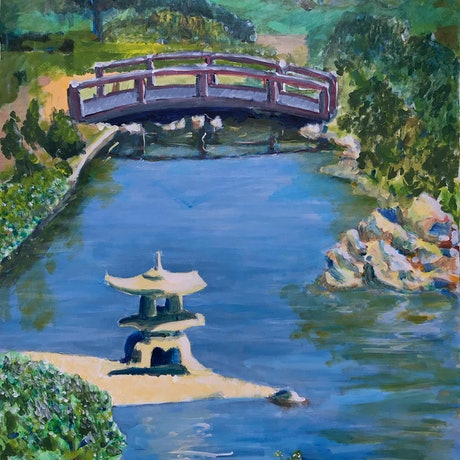 (CreativeWork) Peace Park by Geoff Hargraves. Acrylic Paint. Shop online at Bluethumb.