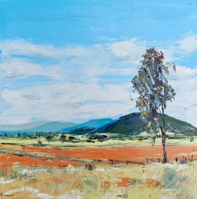 (CreativeWork) 'The Harvest' Gunnedah NSW by Michelle Keighley. oil-painting. Shop online at Bluethumb.