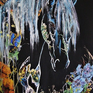 (CreativeWork) Equus Series - Spring Arrives by Christine Lawrence. drawing. Shop online at Bluethumb.