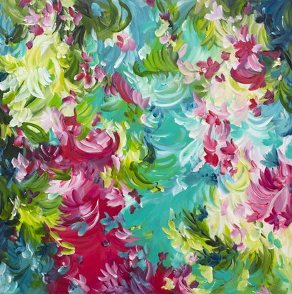 (CreativeWork) Addictive Nature by Amber Gittins. Acrylic Paint. Shop online at Bluethumb.
