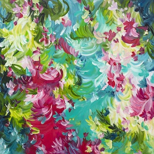 (CreativeWork) Addictive Nature by Amber Gittins. acrylic-painting. Shop online at Bluethumb.
