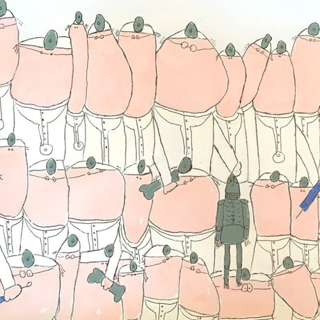 (CreativeWork) Lots of Doctors by Shelley Allen. Watercolour Paint. Shop online at Bluethumb.