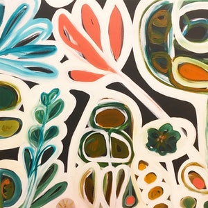 (CreativeWork) Winter Garden III by Sarah Morrow. arcylic-painting. Shop online at Bluethumb.
