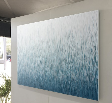 (CreativeWork) 'The Falling Silence' 120 x 80cm Acrylic Painting on Canvas  by George Hall. #<Filter:0x00007fbc98666410>. Shop online at Bluethumb.