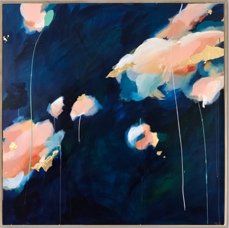 (CreativeWork) Lanterns In The Sky by Marnie McKnight. mixed-media. Shop online at Bluethumb.