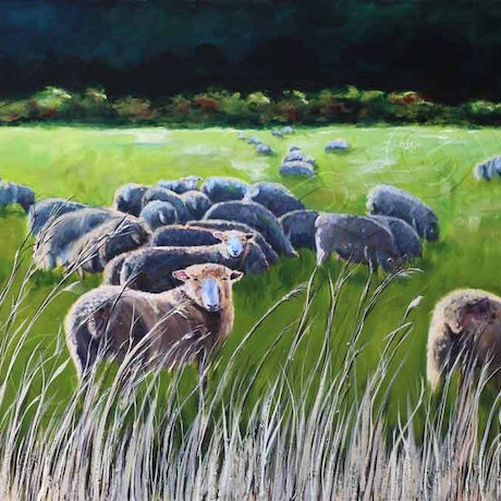 (CreativeWork) BAALM FOR THE WEARY SOUL by Karen Collins. Oil Paint. Shop online at Bluethumb.