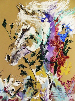 (CreativeWork) Equus - Extravaganza by Christine Lawrence. Other Media. Shop online at Bluethumb.