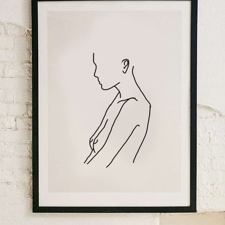 (CreativeWork) ' Listen Here '   The Empath Series  Ed. 1 of 3 by Etre Britta. Reproduction Print. Shop online at Bluethumb.