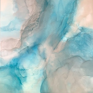 (CreativeWork) Whitsunday Drifiting by Martine Vanderspuy. mixed-media. Shop online at Bluethumb.