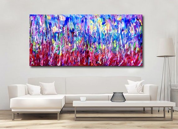 (CreativeWork) Forest of Illusion by Estelle Asmodelle. Acrylic Paint. Shop online at Bluethumb.