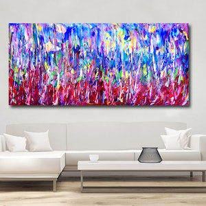 (CreativeWork) Forest of Illusion by Estelle Asmodelle. arcylic-painting. Shop online at Bluethumb.