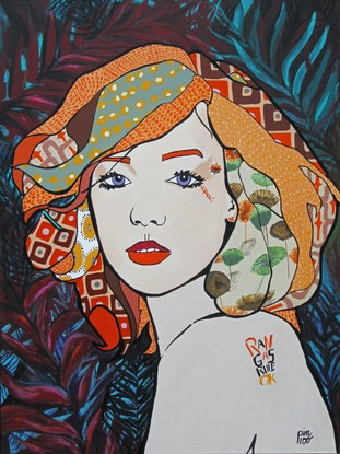 (CreativeWork) Rangas Rule OK ? by Lesley Taylor. Acrylic Paint. Shop online at Bluethumb.