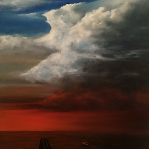 (CreativeWork) Before the Storm by Gerlinde Thomas. oil-painting. Shop online at Bluethumb.
