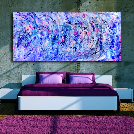 (CreativeWork) In Motion by Estelle Asmodelle. Acrylic Paint. Shop online at Bluethumb.