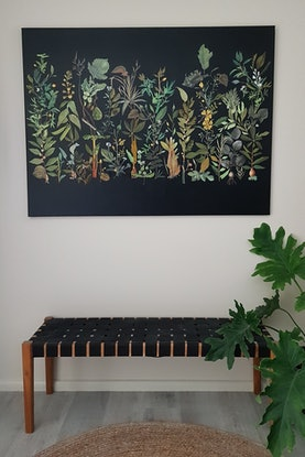 (CreativeWork) 'And into the Forest I go...'  Ready to hang  by Karen Coull. Mixed Media. Shop online at Bluethumb.