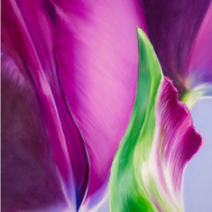 (CreativeWork) Story of the Tulip by Elena Valerie. Oil Paint. Shop online at Bluethumb.