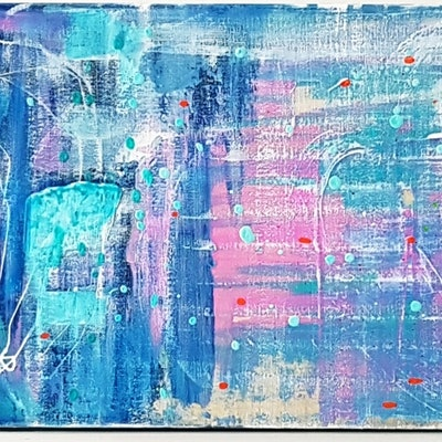 (CreativeWork) SMOOTH  TRANSITION by Basia Kilian. acrylic-painting. Shop online at Bluethumb.