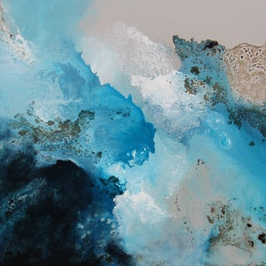 (CreativeWork) Littoral Cell by Sue Dyde. mixed-media. Shop online at Bluethumb.
