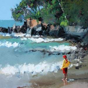 (CreativeWork) Noosa Beach by Claire McCall. #<Filter:0x000055c6e3075ff8>. Shop online at Bluethumb.
