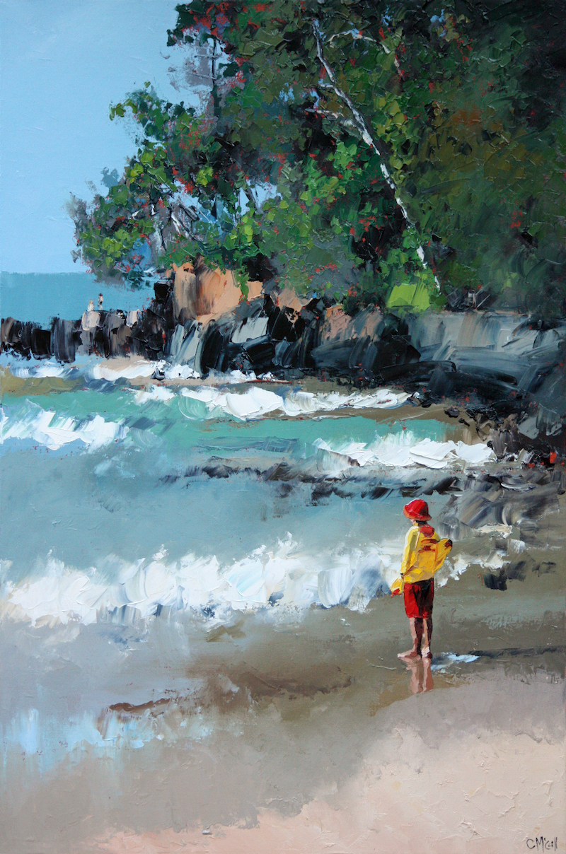 (CreativeWork) Noosa Beach by Claire McCall. #<Filter:0x0000562f86db3808>. Shop online at Bluethumb.