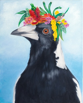 (CreativeWork) Maggie May by Mia Laing. Oil Paint. Shop online at Bluethumb.