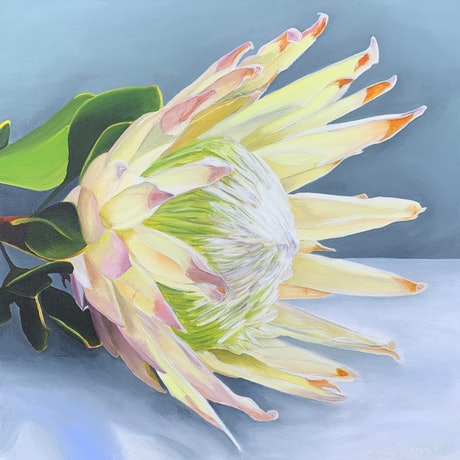 (CreativeWork) Eminence  by Hayley Kruger. Acrylic Paint. Shop online at Bluethumb.