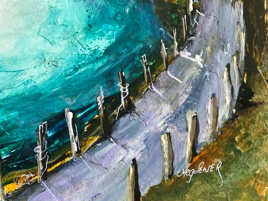 (CreativeWork) The Calling of the Sea by Meg Lewer. Mixed Media. Shop online at Bluethumb.