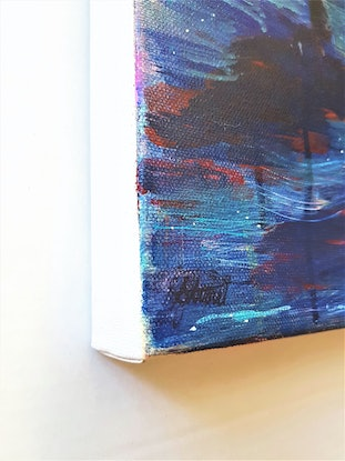 (CreativeWork) Sunset Talk by Suzy Strout. Mixed Media. Shop online at Bluethumb.