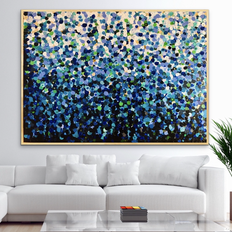 (CreativeWork) Flora 152x102 framed large abstract by Sophie Lawrence. #<Filter:0x00007f00e87ee100>. Shop online at Bluethumb.