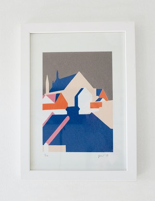 (CreativeWork) View from the Balcony no.2 (5 colour Screen Print) Ed. 2 of 10 by Bianca Wilson. Print. Shop online at Bluethumb.